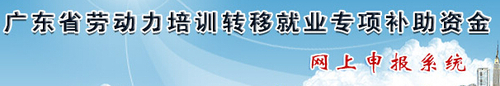 广东省专项补助资金网上申报系统